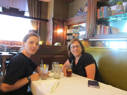 Judith and me in her favorite resto