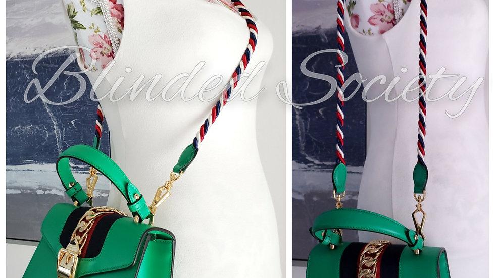 Gucci Sylvie Mini Crossbody Bag Green Leather