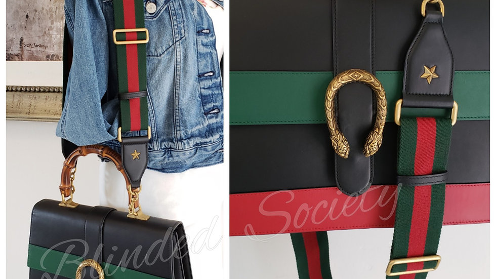 Gucci Dionysus Bamboo Large Tri Color Leather Green & Red Signaure Web