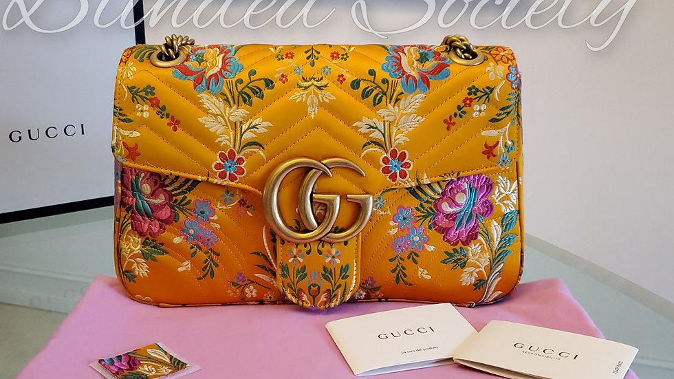 Gucci Marmont Medium Floral Satin