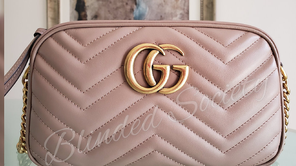 Gucci Marmont Small Dusty Rose Crossbody Bag