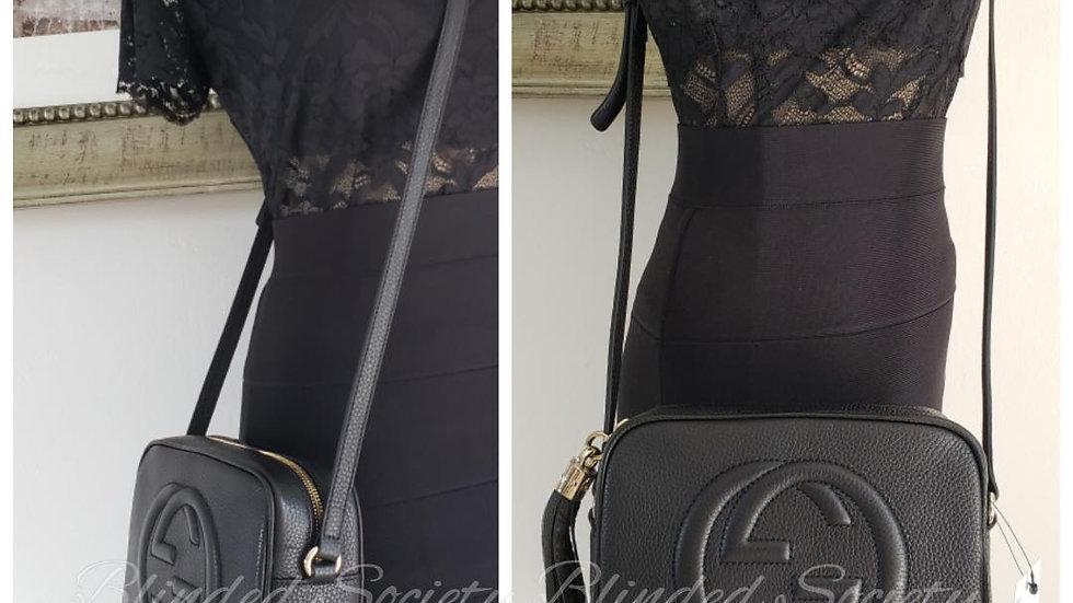 Gucci Black Leather Soho Disco Bag