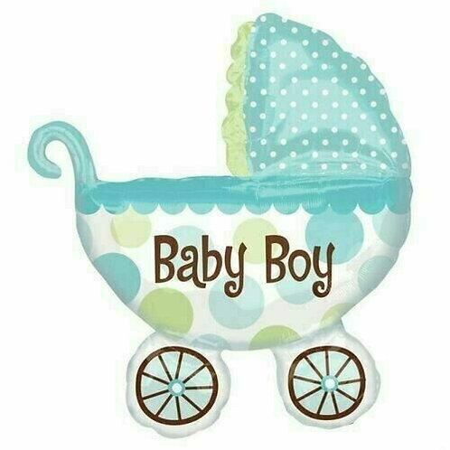 "XXL-Ballon ""Kinderwagen Baby Boy"""