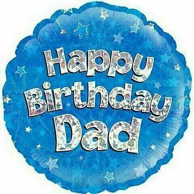 Folienballon Happy Birthday Dad