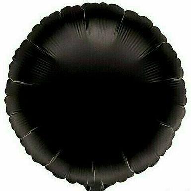 Rundballon / schwarz