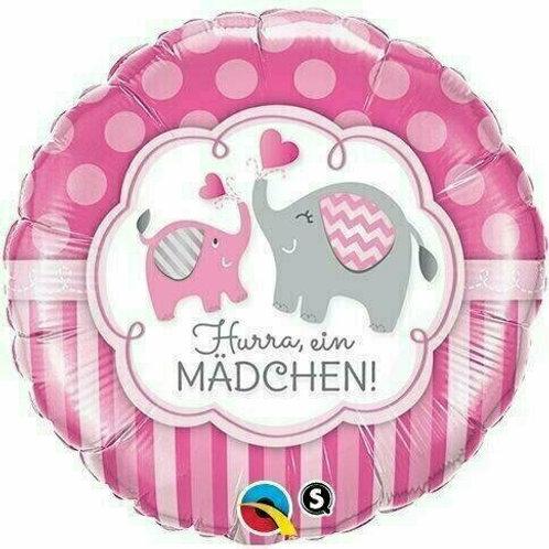 """Folienballon """"Hurra, ein Mädchen!"""""""