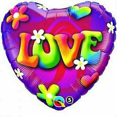 "Folienballon ""Psychedelic Love"""