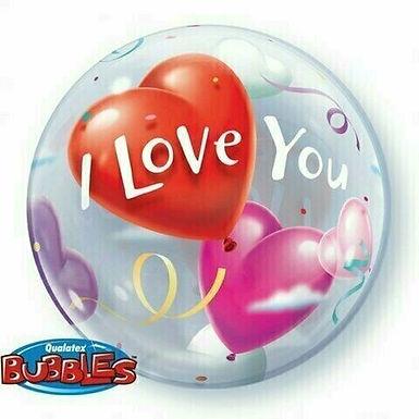 """Bubble Balloon """"Love You"""""""