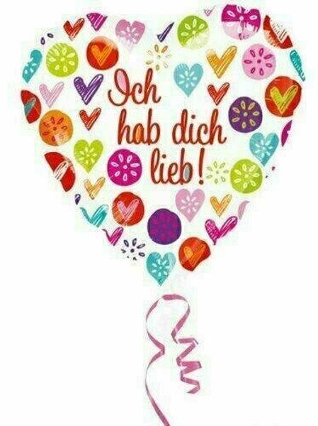 "Folien-Herzballon ""Ich hab Dich lieb"""