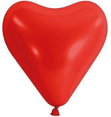 20 Latex-Herzen, Standardfarbe: rot/weiss
