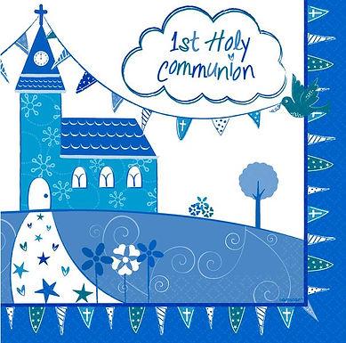 Servietten zur Erstkommunion, blau