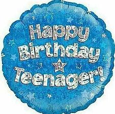 Dekoration zum Teenager Geburtstag