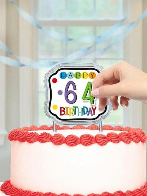 Kuchendekoration Happy Birthday, Alter personalisierbar