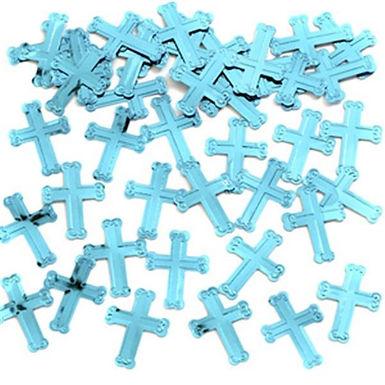 Tischkonfetti Kreuz, blau