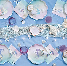 """Hier finden Sie Dekorations-Accessoires zum Thema """"Meerjungfrau"""""""