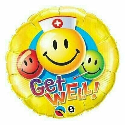 Folienballon: Get Well Smiley