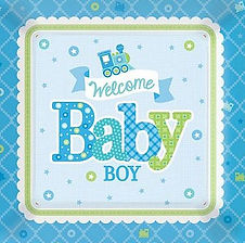 """Dekorations-Accessoires für die Babyparty """"Junge"""""""