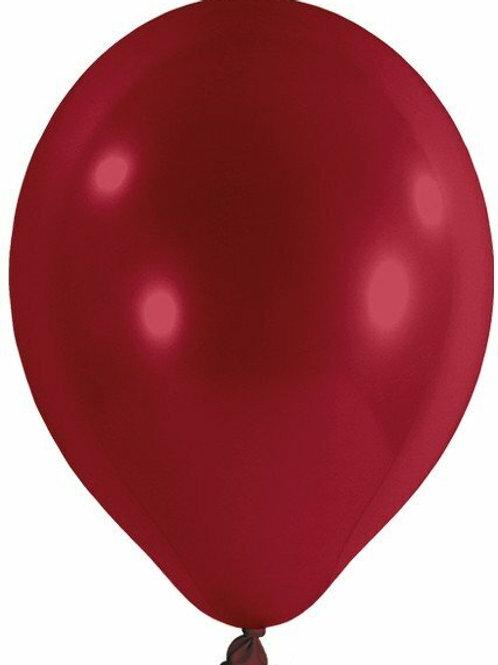 20 Latex-Ballons, Standardfarbe: burgund