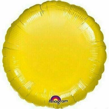 Rundballon / gelb