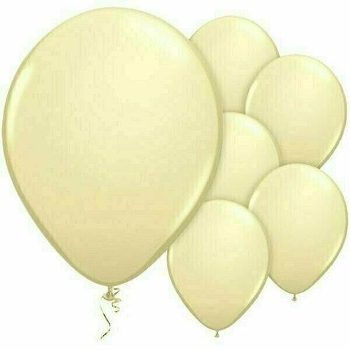 20 Latex-Ballons, Standardfarbe: elfenbein