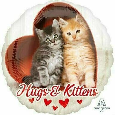 """Folienballon """"Hugs & Kittens"""""""