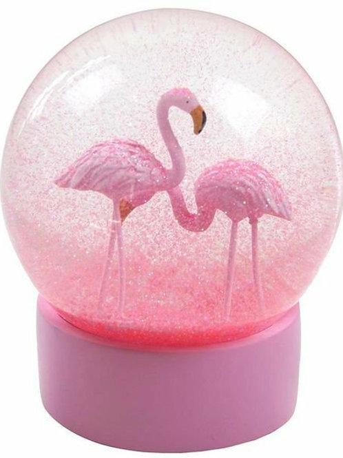 "Schneekugel ""Flamingo"""