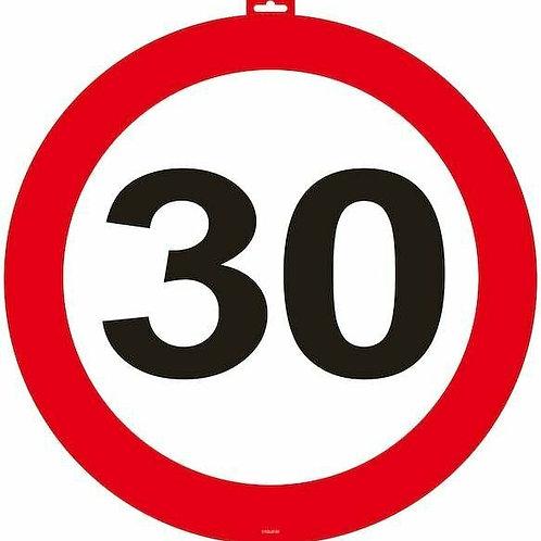"""Tür- Verkehrsschild """"30"""""""