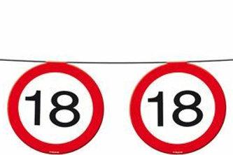 """Geburtstagsgirlande Verkehrsschild """"18"""""""