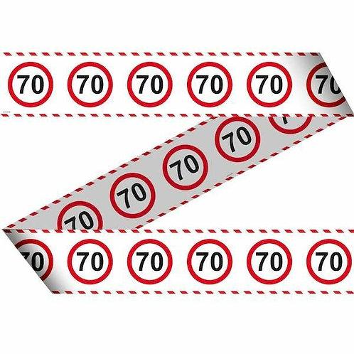 """Flatterband / Absperrband:  Verkehrsschild """"70"""""""