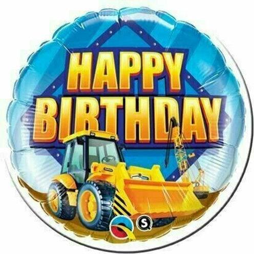 Folienballon Happy Birthday Bagger