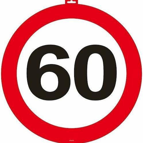 """Tür- Verkehrsschild """"60"""""""