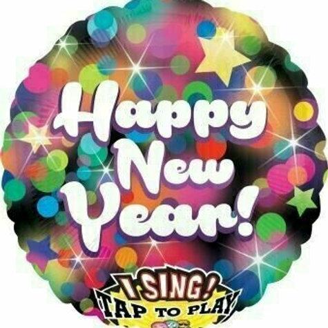 "Musikballon ""Happy New Year"""