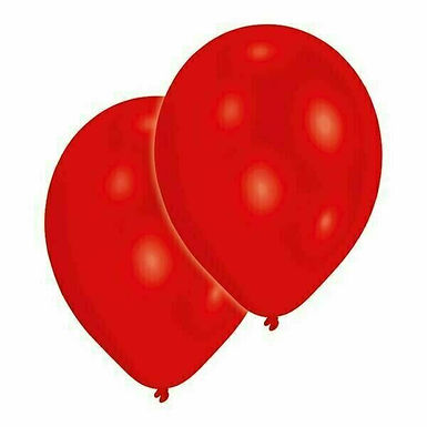20 Latex-Ballons, Standardfarbe: rot