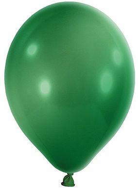 20 Latex-Ballons, Metallicfarbe: grün
