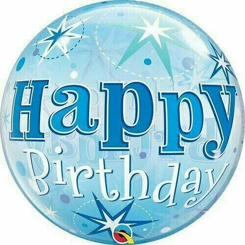 "Bubble Balloon ""Happy Birthday blau"""