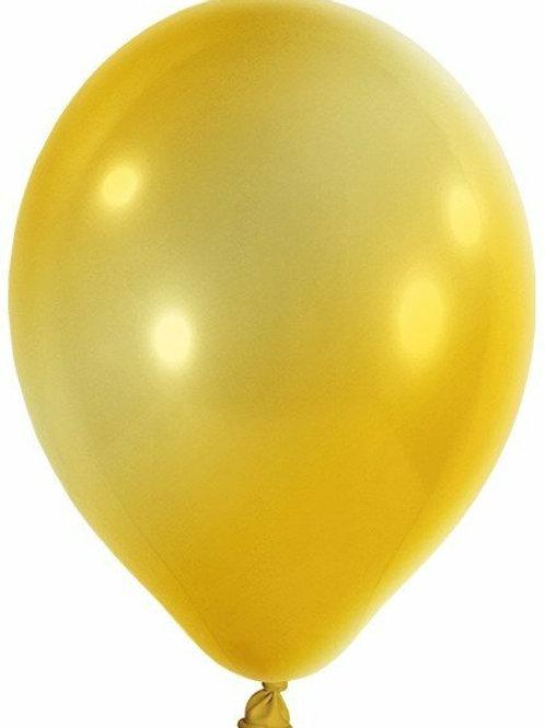 20 Latex-Ballons, Metallicfarbe: gold