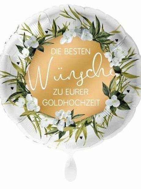 """Folienballon """"Glückwunsch zur goldenen Hochzeit"""""""