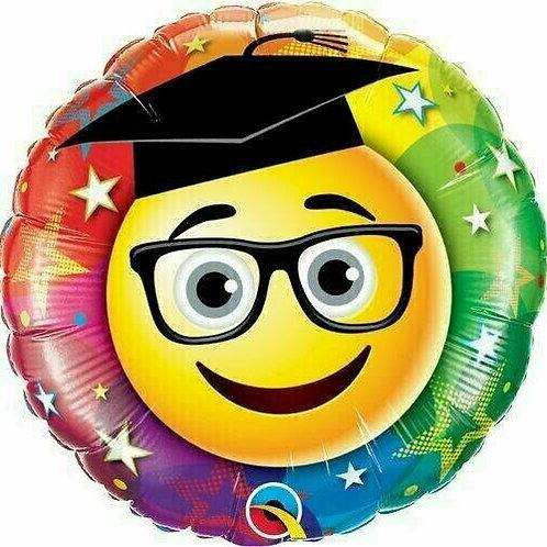 "Folienballon ""Graduate Smiley"""