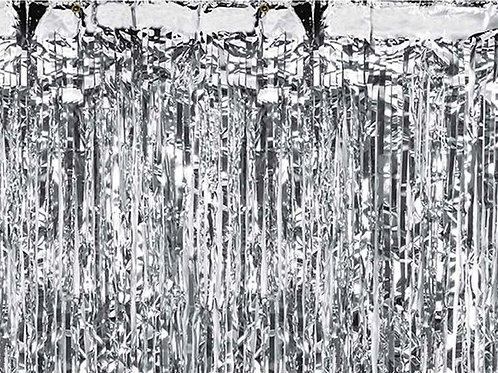Glittervorhang in silber