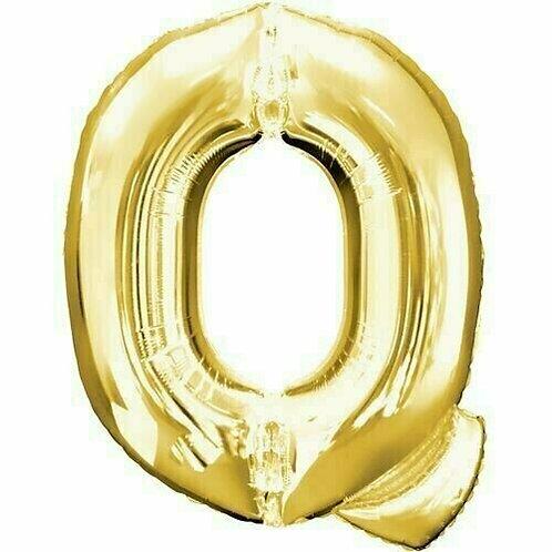 """Riesenbuchstabe """"Q"""" - gold"""