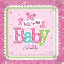 """Dekorations-Accessoires für die Babyparty """"Mädchen"""""""