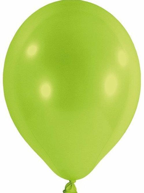 20 Latex-Ballons, Standardfarbe: limonengrün