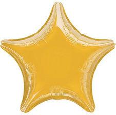 Einfarbige Folienballons als Stern, Herz oder in rund