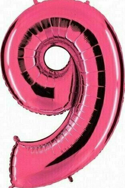 """Riesenzahl """"9"""" - pink"""