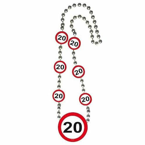 """Halskette Verkehrsschild """"20"""""""