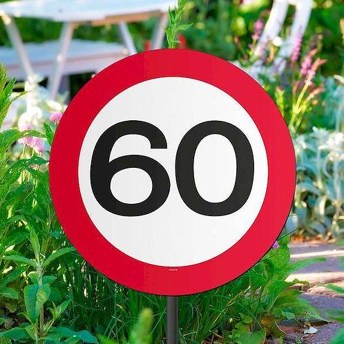 """Gartenstecker Verkehrsschild """"60"""""""