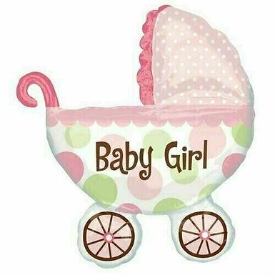 "XXL-Ballon ""Kinderwagen Baby Girl"""