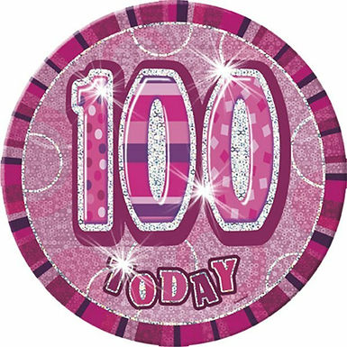 "Badge ""100 today"", pink holografisch​"
