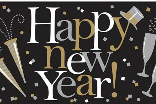 """XXL-Folienbanner """"Happy New Year"""""""