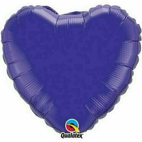 Herzballon, violett (unifarben)